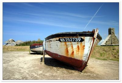 Vieux bateau à Menez-Ham